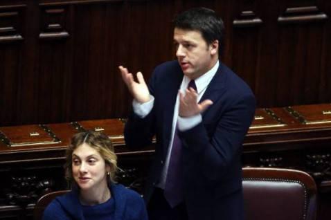 Matteo Renzi  e Marianna Madia alla Camera (Franco Origlia/Getty Images)