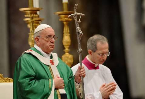 La messa celebrata da Papa Francesco (VINCENZO PINTO/AFP/Getty Images)