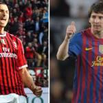 Champions League 2012 Milan-Barcellona, sfida tra Ibrahimovic e Messi