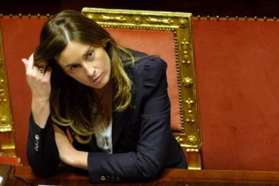 Il ministro Maria Elena Boschi (ANDREAS SOLARO/AFP/Getty Images)
