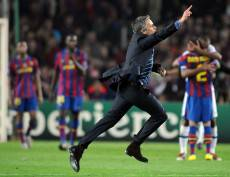 L'esultanza di Mou contro il Barça