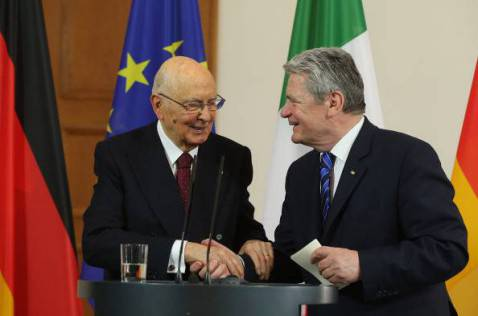Napolitano e Gauck (Sean Gallup/Getty Images)