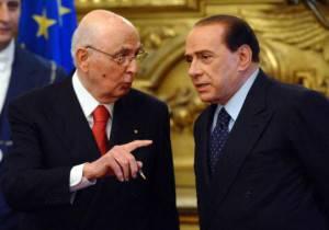 Giorgio Napolitano e Silvio Berlusconi (VINCENZO PINTO/AFP/Getty Images)