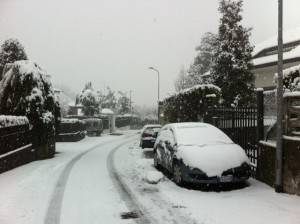Maltempo: neve anche in Brianza. Disagi alla circolazione