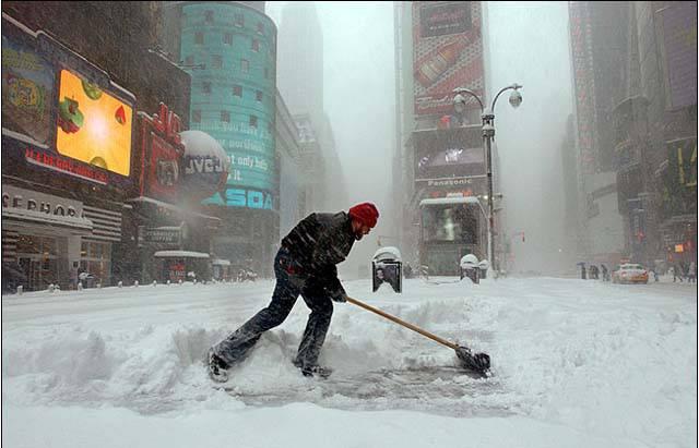 Nuova bufera di neve a New York