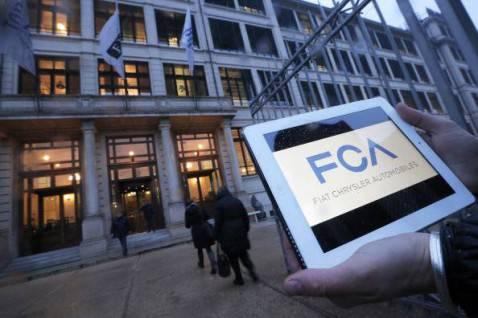 Il nuovo logo della FCA (MARCO BERTORELLO/AFP/Getty Images)