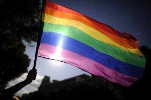 Bandiera dell'orgoglio gay (PEDRO ARMESTRE/AFP/GettyImages)