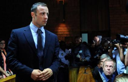 Oscar Pistorius in tribunale (Foto: ALEXANDER JOE/AFP/Getty Images)