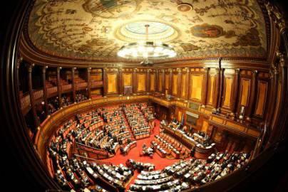 L'aula di Palazzo Madama (Franco Origlia/Getty Images)