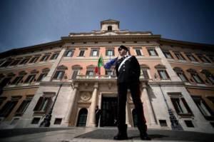 Piazza Montecitorio, Roma (FILIPPO MONTEFORTE/AFP/Getty Images)