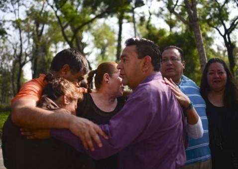 Paura in Messico per il terremoto (YURI CORTEZ/AFP/Getty Images)