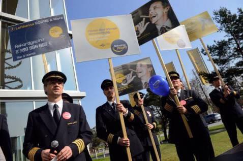 Piloti Lufthansa, protesta aeroporto di Francoforte (Getty images)