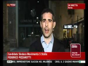 Federico Pizzarotti (Screenshot SkyTg24)