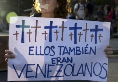Proteste a Caracas (Getty images)