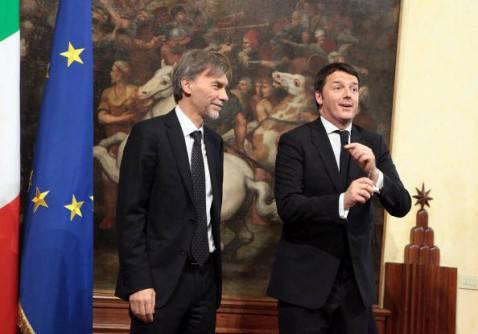 Graziano Delrio con Matteo Renzi (Elisabetta Villa/Getty Images)