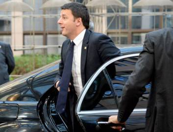 Matteo Renzi a Bruxelles (THIERRY CHARLIER/AFP/Getty Images)