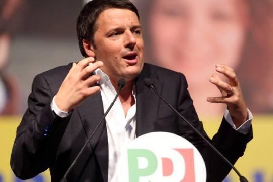 Matteo Renzi in Piazza del Popolo ( Franco Origlia/Getty Images)