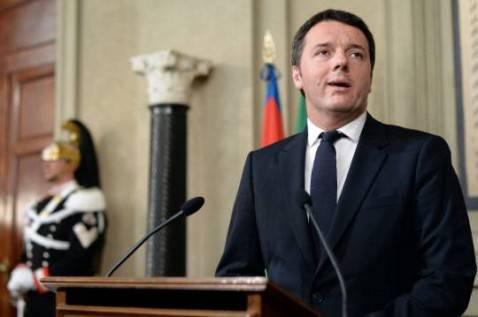 Matteo Renzi al Quirinale (FILIPPO MONTEFORTE/AFP/Getty Images)