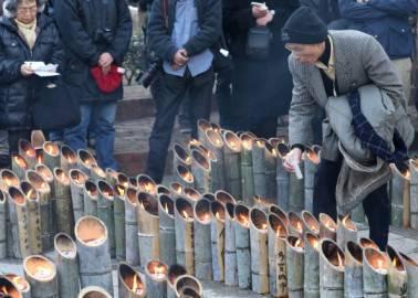 Ricordo vittime del terremoto e dello tsunami che ha colpito il Giappone l''11 marzo del 2011 (Getty images)