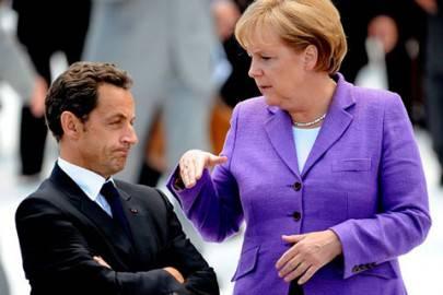 Nicolas Sarkozy e Angela Merkel