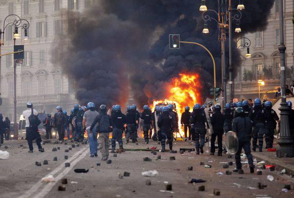 Scontri a Roma 15 ottobre: manifestante condannato a 3 anni e 4 mesi