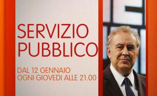'Servizio Pubblico', 19 gennaio 2012: ospiti in studio Alessandra Mussolini, Maurizio Landini e Benedetto Della Vedova