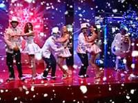 Diretta live Grande Fratello 11, show di Natale allestito dai gieffini