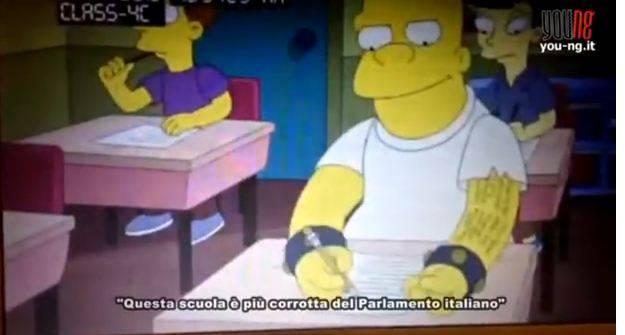 Per i simpson il parlamento italiano un esempio di for Notizie parlamento italiano