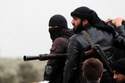 Combattenti del gruppo jihadista Al Nusra in Siria (Guillaume Briquet/AFP/Getty Images)