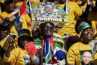 Sostenitori dell'African National Congress, Sud Africa (Getty images)