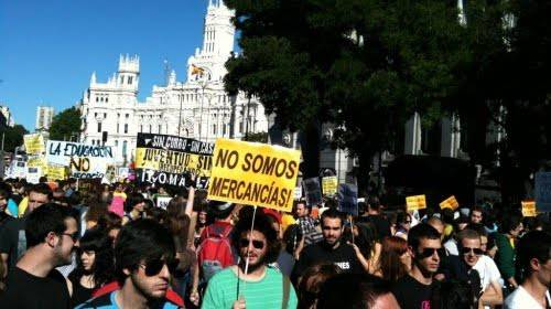 Spagna: indignados organizzano lo sciopero generale