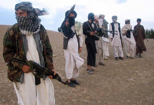 Un gruppo di talebani in Afganistan
