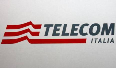 Logo Telecom Italia (Foto di PACO SERINELLI/AFP/Getty Images)