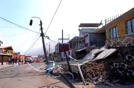 La città di Iquique colpita dal terremoto (Aldo Solimano/AFP/Getty Images)