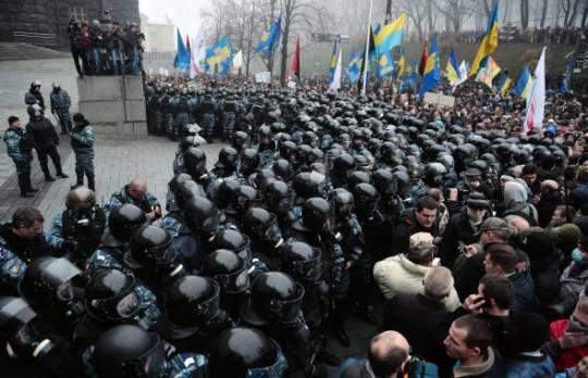 Ucraina, scontri in pazza: numerosi arresti e due feriti