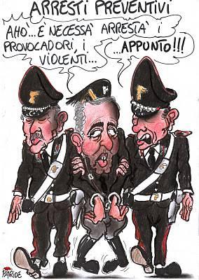 Vignette satiriche: Daspo e arresti preventivi (Paride Puglia)