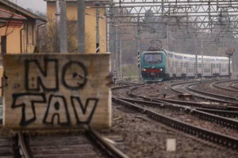 Scritte No Tav (MARCO BERTORELLO/AFP/Getty Images)