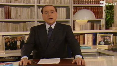 Silvio Berlusconi (screenshot RaiNews24)
