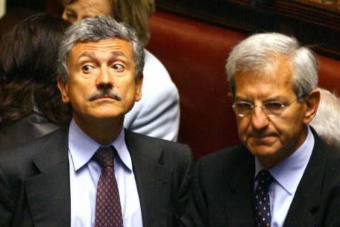 Luciano Violante con D'Alema (VINCENZO PINTO/AFP/Getty Images)